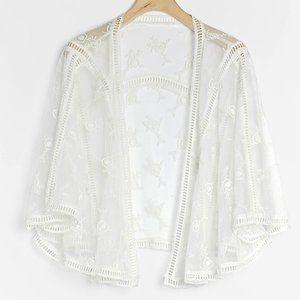 HTF Anthropologie Bailey Cropped Lace Kimono